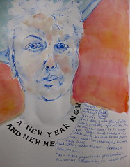 sp 1/1 (Evelyn Bach) Tags: portrait self sketch journal sketchbook penandwatercolour
