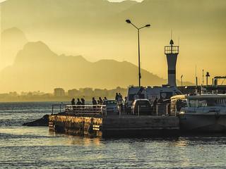 Antalya Yacht Harbor Sunset