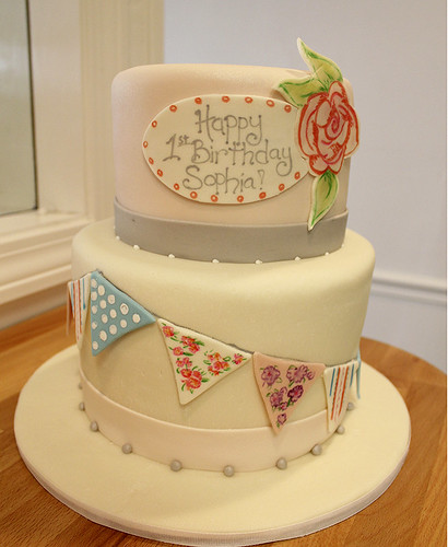 Painted Pennants Cake