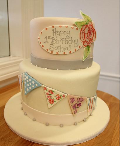 Painted Pennants Cake