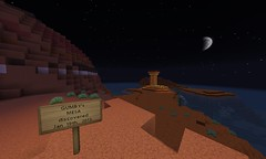 Gumby's Mesa Continent: January 19th, 2013 (GumbyBlockhead) Tags: night discovery survival mesa biome