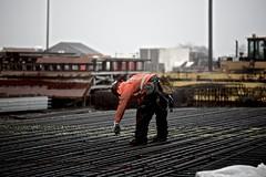 Iron work outside the basin (WSDOT) Tags: th wsdot washingtonstatedepartmentoftransportation kiewit bridgeconstruction pontoon floatingbridge sr520 stateroute520 aberdeen ironworker sr520pontoons cycle4