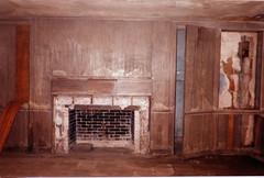 Lounge With Paneling (CityOfDave) Tags: nyc newyorkcity abandoned fireplace dorm lounge urbanexploration dormitory rooseveltisland mantel abandonedbuilding welfareisland centralnursesresidence