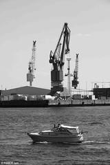 (FEBER CPH) Tags: bw industry water canon germany boats hamburg canoneos400d