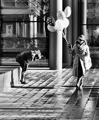 Balloon Worship (jaykay72) Tags: street uk blackandwhite bw london candid streetphotography londonist bishopssquare stphotographia