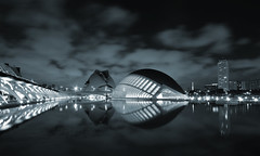 Starship Mine - EXPLORED! Thank you :-) (Fotomondeo) Tags: españa valencia architecture night reflections lights noche spain arquitectura nikon reflejos ciudaddelasartesylasciencias sigma1020mm luceros cityofartsandsciences calatreva nikond7000