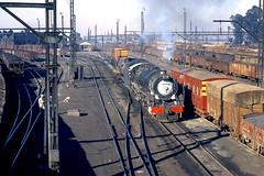 R4615.  15C at Witbank. 9th September,1972. (Ron Fisher) Tags: sas sar narrowgauge 15c witbank schmalspurbahn southafricanrailways voieetroite capegauge 36gauge southafricansteam