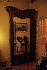 Art Nouveau (Natali Antonovich) Tags: barcelona reflection mirror spain interior artnouveau decor modernisme lapedrera barcelonaspain sunnybarcelona vigorousitems