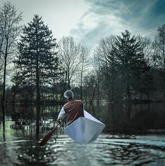 95.365  crossing the pond... (w3inc / Bill) Tags: nikon sunday 365 conceptual hss paperboats lr4 w3inc 2014365photos