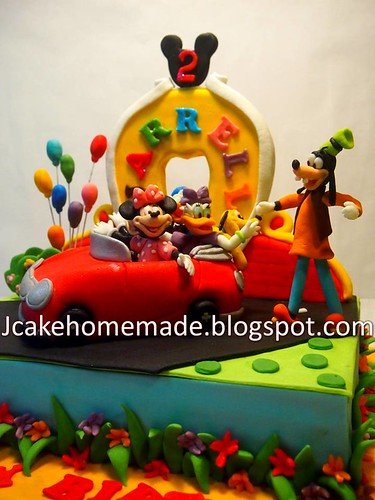 Phenomenal Mickey Mouse Clubhouse Birthday Cake A Photo On Flickriver Personalised Birthday Cards Paralily Jamesorg