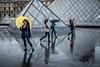 Le parapluie jaune (RVBO) Tags: paris couleurs pluie lelouvre parapluie