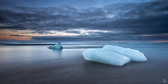 Blue iCeland (CResende) Tags: travel blue sunset seascape ice beach nature islands iceland glacier nikkor d800 1424 cresende lucroit