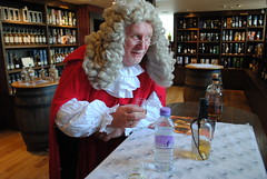 The judge samples the whisky