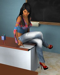 at_the_school (Jotaerre3D) Tags: school sexy female classroom indian teacher nativeamerican indoors 3dart pinup 3dcgi daz3d jrsangels