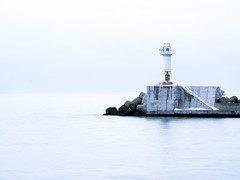 Winter sea of silence (trasroid) Tags: winter sea lighthouse japan hokkaido 北海道 日本 冬 海 lightstation 灯台
