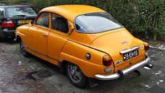 Saab 96 L V4 (sjoerd.wijsman) Tags: auto orange holland cars netherlands car sedan rotterdam nederland thenetherlands voiture vehicle holanda autos saloon saab paysbas berline olanda oranje fahrzeug niederlande 96 zuidholland saab96 onk carspotting berlina carspot stufenheck cwodlp 73eh15 sidecode3 07022015