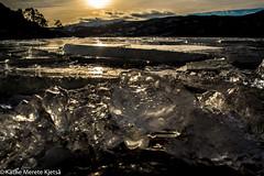 Byglandsfjorden (kathemeretekjets) Tags: winter sunset ice water norway vinter fjord vann solnedgang setesdalen