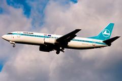 Luxair | Boeing 737-400 | LX-LGG | London Heathrow (Dennis HKG) Tags: london plane airplane airport heathrow aircraft lg boeing lhr 737 luxair planespotting 737400 boeing737 egll lgl boeing737400 lxlgg