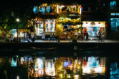 Night Life by the River (huangb) Tags: life street leica water night 35mm river boats gold lights store high interesting asia southeastasia flickr vietnamese ngc streetphotography streetscene wanderlust iso vietnam adventure hoian explore summicron elite adapter fujifilm worldtravel travelphotography xt1 streettog