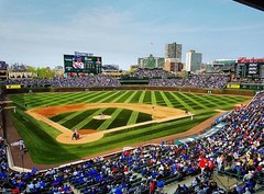 """#Repost @sakis_sadira ・・・ """"Field of Dreams"""" - Chicago, Illinois, USA (Spring '16) #wrigleyfield #wrigleyville #cubsbaseball #chicagocubs #ballpark #nationalpastime #stadium #wrigley #baseball #chicago #chicagogram #nationals #mlb (southportcorridorchicago) Tags: instagramapp square squareformat iphoneography uploaded:by=instagram southportcorridor lakeview wrigleyville chicago wrigley southport corridor shopping cubs retail urban city spring 2016 midwest"""