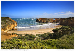 Worm Bay on the Great Ocean Road ( Mark Sunderland www.marksunderland.com) Tags: travel sea seascape beach landscape bay coast sand surf australia bluesky victoria cliffs erosion coastal sands greatoceanroad southernocean peterborough sunnyday shipwreckcoast quietbeach wormbay