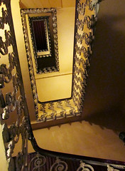 Staircase Pattern (shaire productions) Tags: egypt egyptian building interior image picture photo photograph vintage old hotel stairs staircase railing pattern design decor decoration imagery
