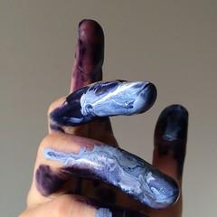 ad36e861-9357-4778-a92e-2c528fddf76c (deboraleal) Tags: colors branco azul cores mo tinta expressionismo
