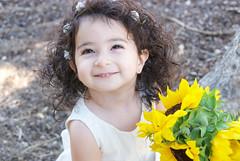 Gianna_0046 (Ciara*) Tags: girl kid toddler smiles cutie niece sunflower