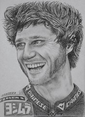 Guy Martin - Man on Fire (Lammyman) Tags: guy bike pencil media martin drawings personality motorbike british racer