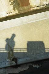 Colour portrait (Andrew.King) Tags: selfportrait monochrome stone contrast concrete shadows reservoir pitsford sulight