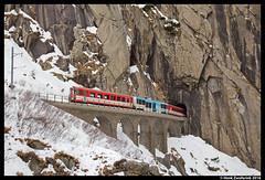 Matterhorn Gotthard Bahn 51, Andermatt 22-02-2016 (Henk Zwoferink) Tags: road train und outdoor vehicle matterhorn 51 bahn uri henk andermatt zwitserland gotthard lokomotiv slm schweizerische maschinenfabrik gschenen zwoferink