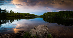 Johnson Lake, Byram Township, NJ (Derek Boen) Tags: sunset panorama newjersey nj johnsonlake byramtownship