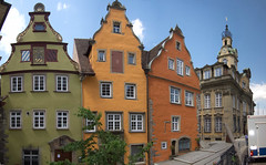 German town buildings panorama (quinet) Tags: houses germany maisons 2012 huser castleroad burgenstrase