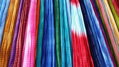 The colours of summer. . (Batool Nasir) Tags: dupatta karachi pakistan colours colors bright dyed chunayhuway tiedtwisted veil covering fashion qurtabamarket
