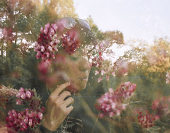 Mariachiara + Pink Flowers (Alessandra Papagni) Tags: pink flowers light people italy flower green primavera film me nature girl analog 35mm photography 50mm spring exposure italia hand natural pentax pastel cigarette smoke dream rosa double iso persone nostalgia 200 mano roll epson rolls mm analogue fotografia melancholy fiori 50 expired cinematic 35 fiore fille luce italie viso analogica argentique ragazza esposizione fumo sogno sigaretta analogic pentaxme pellicola pellicule rullino doppia v370 scatuto