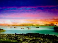Under a Peaceful Sky (abstractartangel77) Tags: sea sky ferry boats innerhebrides iona