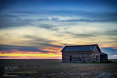 Barn in Field (joebizconsult) Tags: wood morning blue light sky building architecture clouds barn rural sunrise dawn daylight early am outdoor farm country agrarian rustic places structure storage homestead solitary sunup daybreak morn outbuilding firstlight 500px ifttt