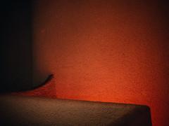 Texas Theatre (BurlapZack) Tags: red abstract texture wall architecture availablelight ominous plaster upstairs handheld dallastx texastheatre pack01 oakclifftx panasonicleicadgsummilux25mmf14 vscofilm olympusomdem5markii