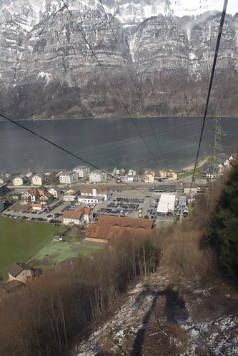 Cablecar from Unterterzen via Oberterzen to Tannenbodenalp
