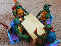 pizza time (metaldriver89) Tags: mike toys actionfigure leo action mikey turtles actionfigures don mutant leonardo raphael donny raph michaelangelo donatello teenagemutantninjaturtles tmnt neca acba