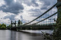 Hammersmith Bridge (JB_1984) Tags: uk longexposure bridge england motion blur london water thames clouds river movement unitedkingdom hammersmith riverthames hammersmithbridge ndfilter neutraldensityfilter londonboroughofhammersmithandfulham