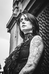 Shooting - Abysse 006 (Thomas Mathues) Tags: portrait cemetery graveyard dark model photoshoot mourning belgium belgique tomb gothic goth shooting widow gothique tombe cimetire modle hainaut
