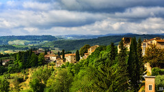 Good morning Tuscany (BAN - photography) Tags: trees homes italy architecture clouds rural countryside tuscany sangimignano d800e