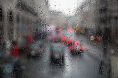 British Summer (V Photography and Art) Tags: street london rain droplets view bokeh raindrops carlights