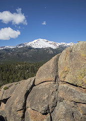 28 May 16 Cascade Mountain with Pikes Peak (ethanbeute) Tags: rock forest colorado hiking hike snowcapped trail coloradosprings granite summit cascade pikespeak utepass pikenationalforest pikespeakgranite heizertrail