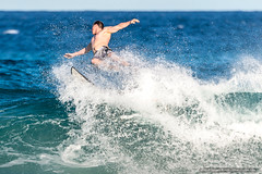 Leap - Tallow Beach Surfers (sbyrnedotcom) Tags: blue sea beach sports surf waves action australia surfing nsw surfers tamron byronbay tallowbeach