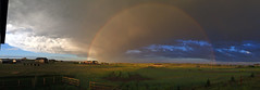 Mammatus_rainbow_062516_pano (northern_nights) Tags: rainbow mammatus clouds redsky sunset skycloudssun 100v10f
