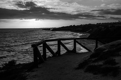 IMG_6810 (Nlekt Photography) Tags: ocean california blackandwhite monochrome cali composition contrast canon waves pacific pacificocean socal 7d southerncalifornia westcoast bnw southerncali eos7d canon7d crystalcovenationalpark crytsalcove