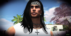 Attentive Gaze (erikmofanui) Tags: trees portrait colors soulful eyecandy malemodel sexyman secondlifeavatar peopleofsecondlife secondlifeportrat
