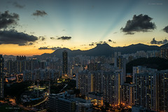 K-East Sunset. (bgfotologue) Tags: 2016 500px afterglow bgphoto brust cityscape crepuscularrays crowding擠迫 east estate evening glow hk hongkong housing image kowloon kowloonbay landscape lightup lionrock night outdoor photo photography sunset bellphoto 九龍 九龍灣 反 反曙 反曙暮輝 城市 夜 夜景 太陽 彩虹邨 彩雲邨 戶外 攝影 日落 東九 港 獅子山 獅子石 都市 雲隙光 風景 香港 黃昏